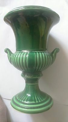 "VINTAGE ""DARTMOUTH POTTERY""67.B  SMALL green  URN VASE 13.5CM HIGH"