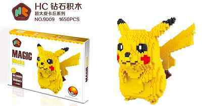 "Pikachu Pokemon Nano Block 7"" Tall (1650 Pieces) UK Stock"