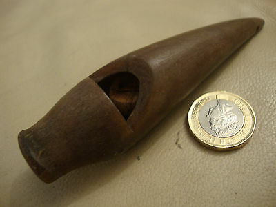 Nice rare antique big old hand made carved cow horn whistle Victorian folk art