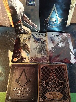 7x Steelbook Collection Assassins Creed Altair 3 4 Black Flag Syndicate No Game