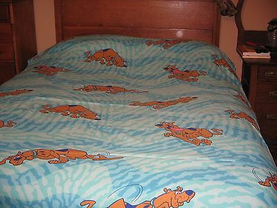 Vintage Scooby Doo 3 Piece Twin Sz Bed Set Dan River 1 Flat 1 Fitted& Pillowcase
