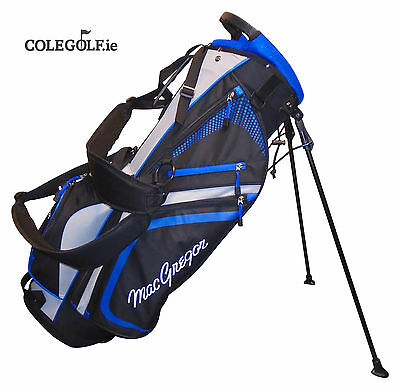 "MacGregor Tourney Plus 9"" Stand Golf Bag - Black/White/Blue"