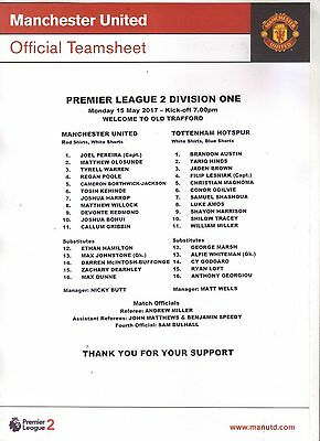 Large Manchester United Collection - Teamsheets / Menus / Reserves  -  300+