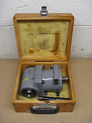 Gem Power R-8 R8 Bridgeport Right Angle Milling Head Adapter Attachment Used
