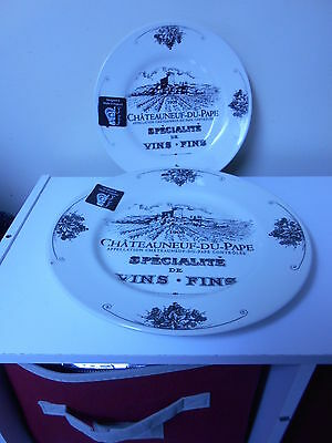 Set of 3 Carley Dodsley French Chateaneuf du Pape China pieces - 100 % Brand New