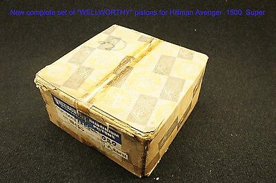 """New complete set of """"WELLWORTHY"""" pistons for HillmanAvenger 1500 Super"""