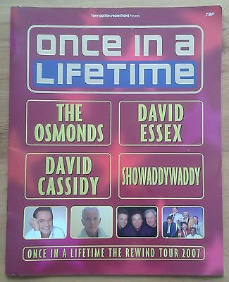 Once In A Lifetime Rewind Tour 2007 programme The Osmonds David Essex Cassidy