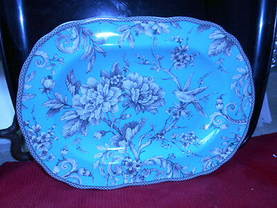 BRAND NEW- 222 Fifth Adelaide Turquoise - OVAL SERVING PLATTER