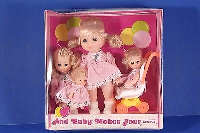Vintage UNEEDA And BABY MAKES FOUR Dolls NEW in Box 1982 NRFB 4 Blonde Dolls