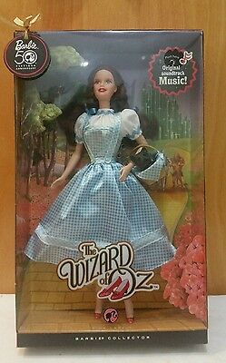 2008 Wizard Of Oz Dorothy Barbie Pink Label 50Th Anniversary With Movie Music