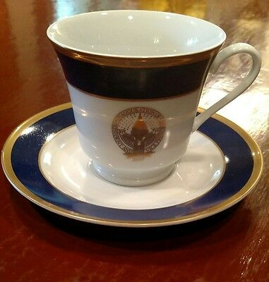 2009 Inauguration of Barack Obama Authentic White House Cup and Saucer Perfect