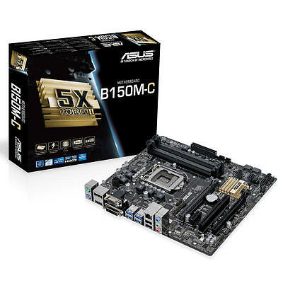 Placa Base ASUS B150M-C LGA1151 / DDR4 / HDMI / USB3 (NO IO-SHIELD)
