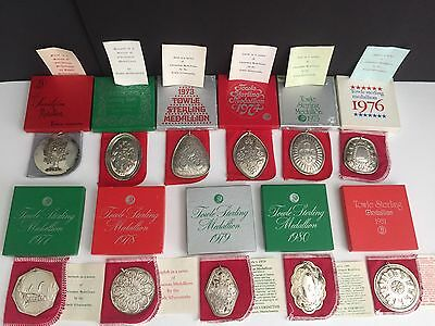 1971 - 1981 TOWLE SILVERSMITHS Ornaments 12 DAYS OF CHRISTMAS SERIES 1 - 11