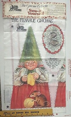 Vintage NEW 1979 Toy Works Sew it Gnome female Mama plush sewing craft Unieboek