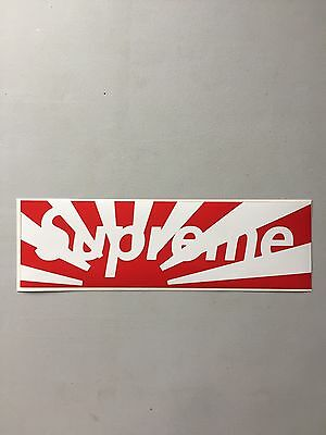 Homemade Vinyl Cut Supreme Japan Red Box Logo Sticker