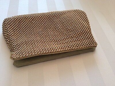 Mesh Whiting And Davis Bag Purse Zipped Coin Makeup Bag Great Vintage Condition
