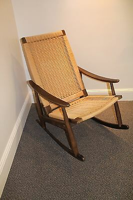 Awesome Hans Jorgensen Wegner Rocking Chair Vintage Danish Modern Ocoug Best Dining Table And Chair Ideas Images Ocougorg