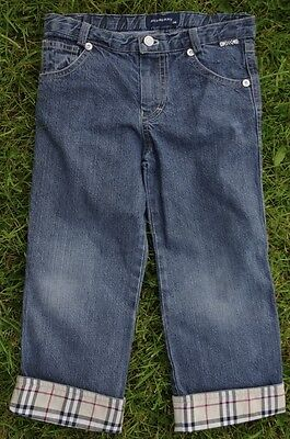 Burberry Navy Boys Jeans with Burberry Check Turn Ups  Age 36 Months