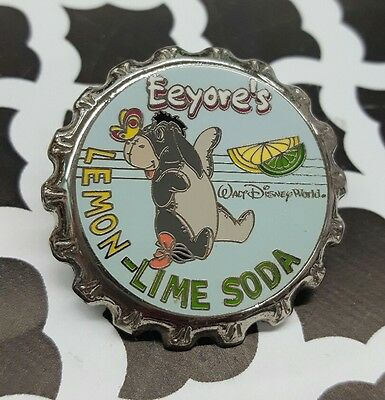 Disney WDW - Soda Pop Series Eeyore's Lemon-Lime Soda Cap Pin