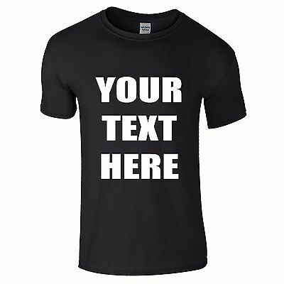 PERSONALISED T-SHIRTS - YOUR TEXT - NEW - Stag, Hen, Fun, Work, Party, Charity
