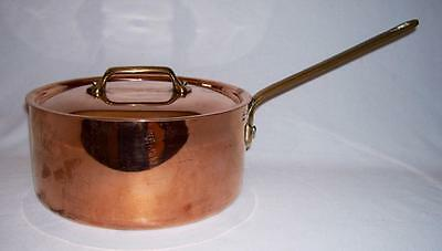 WILLIAMS SONOMA ~ Copper 4 Qt. SAUCE PAN w/LID & Stainless Steel Lining ~ France