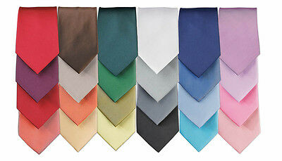 PREMIER MENS TIES - Fashion Neckties - 22 COLOURS - PERSONALISATION OPTION!