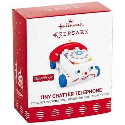 Tiny Chatter Telephone 2017 Hallmark Mini Ornament  Fisher Price  Toy  Pre-Order
