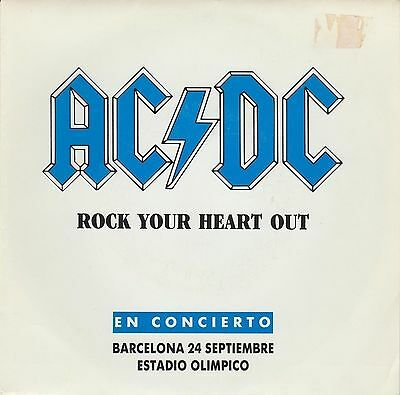 AC/DC - Rock Your Heart Out SINGLE PROMO 1991 SPANISH ISSUE HEAVY HARD ROCK ACDC