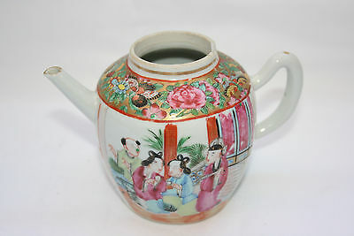 Chinese Porcelain Hand Painted Picture Teapot