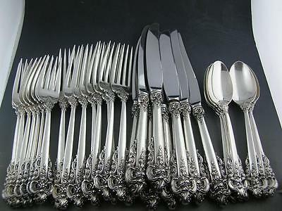 Sterling WALLACE Flatware Set (8) 4pc Place Settings GRANDE BAROQUE