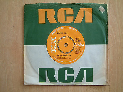 JONATHAN KELLY / LET THE PEOPLE STAY / RCA VICTOR / 1st ISSUE / RARE FOLK / VG+