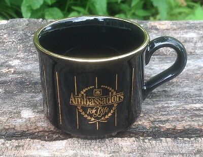 State Farm Insurance Ambassadors For Life Black Gold Espresso Cup Made England