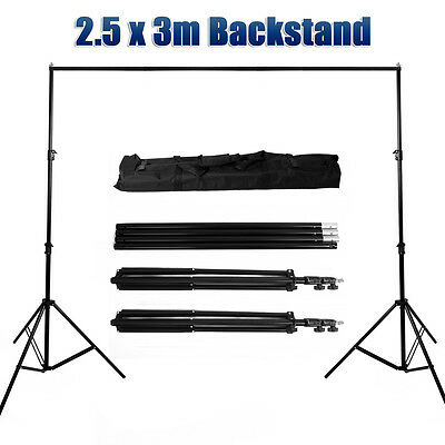 Photo Studio Heavy Duty 2.5x3m Backdrop Stand Background Support Tripod Stands