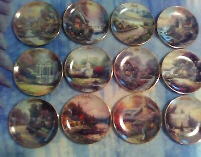 Thomas Kinkade's 1998 Simpler Times  Calendar Collector Plate Set of 12 with COA