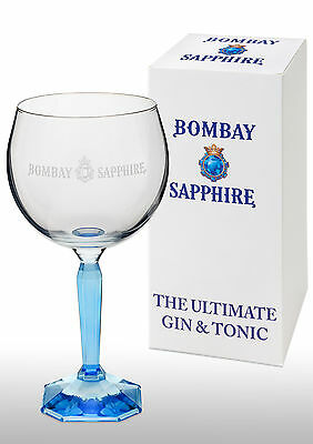 Bombay Sapphire Gin Balloon Glass New With Square Base Gift Boxed