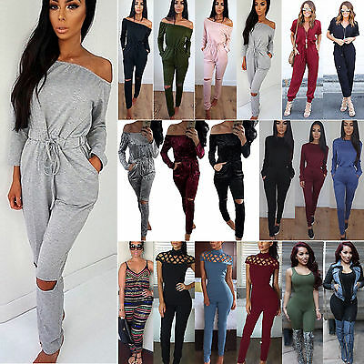 Women Clubwear Summer Playsuit Bodycon Party Jumpsuit Romper Trousers Long Pants