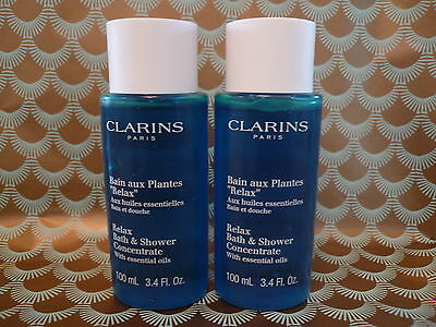 Clarins Relax Bath & Shower Concentrate 200mls (2 x 100mls) New