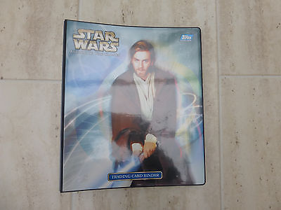 Star Wars Attack of the Clones Topps cards Series 1 in binder complete set