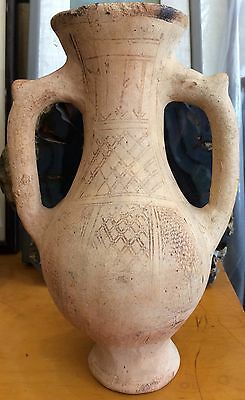Ancient Mamluk or Cypriot Decorated Unglazed Pottery Vessel, circa 13th c.