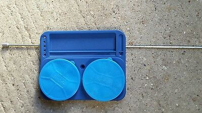 Raised Fishing Bait Tray with Maggot Boxes x 2 & Bank Stick