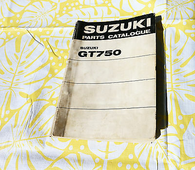 Suzuki Gt 750 J - K - L - M - Parts List- Parts Catalogue- Catalogo Ricambi 1975