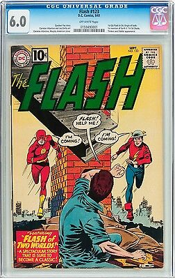 The Flash #123 - First Earth Two! CGC 6.0 OW Pages