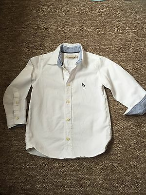 Boys Shirt Age 2-3 Years White Smart Casual H&M Worn Once