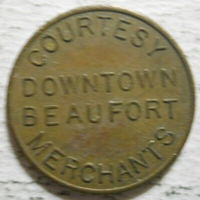 Downtown Beaufort Merchants (South Carolina) parking token - SC3100C
