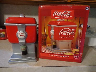 "Gibson Coca-Cola Cookie Jar / Soda fountain 41514.01 10-3/4"" New in Box"