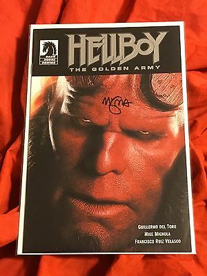 Hellboy The Golden Army~Special One Shot Ron Perlman Photo Cover~Signed Mignola