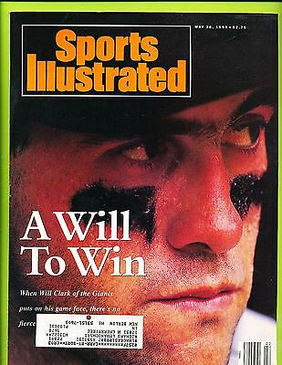 Sports Illustrated Magazine May 28, 1990 - Will Clark  San Francisco Giants  B1