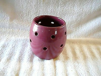 Cornelison Pottery Red/Plum Holed Candle Holder Bybee Kentucky, Excellent