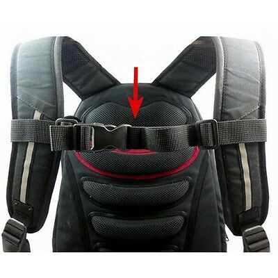 Adjustable Bag Backpack Webbing Sternum Chest Harness Buckle Clip Strap Nylon