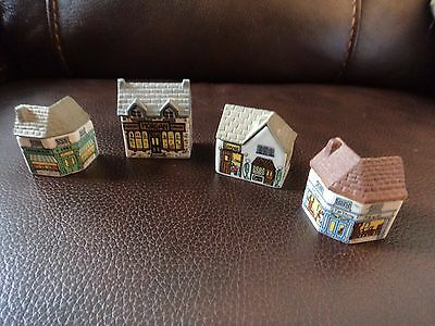 4 Wade mini buildings shops made in England